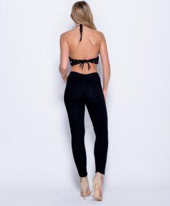 Eyelet-Embellished Lace-Up Skinny Jeans 5
