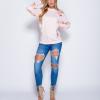 Eyelet-Embellished Lace-Up Skinny Jeans 7