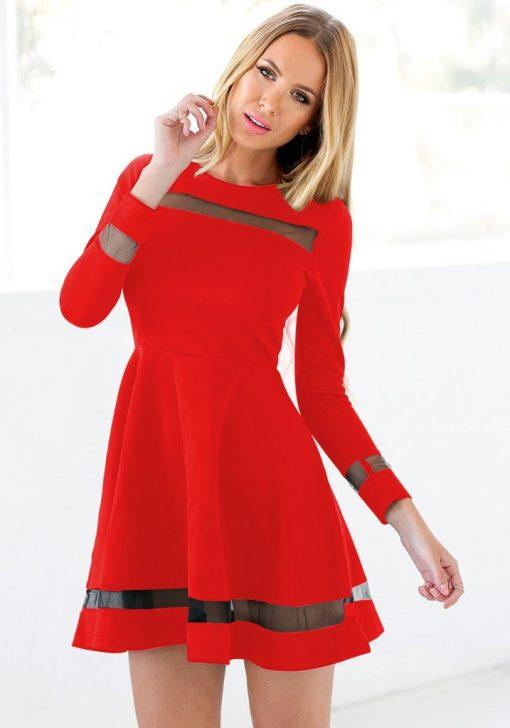 Martini Red Skater Dress 1