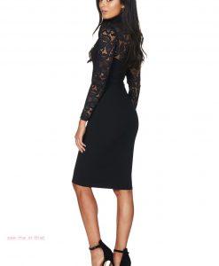 Black Lace Long Sleeve Dress 3