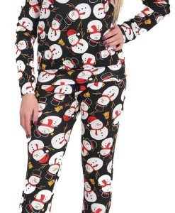 Snowman Ladies XMas Lounge wear Father Christmas Women Santa 2pc 5