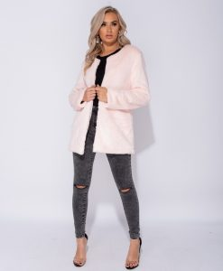 Stella Pink Faux Fur Coat 5