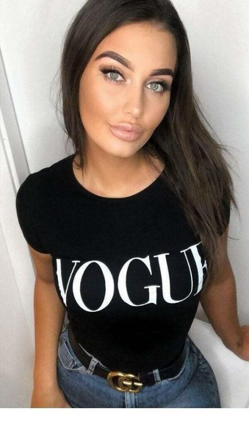 Vogue Black T-shirt top 1