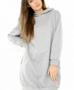 Grey Oversized Jumper Dress 3