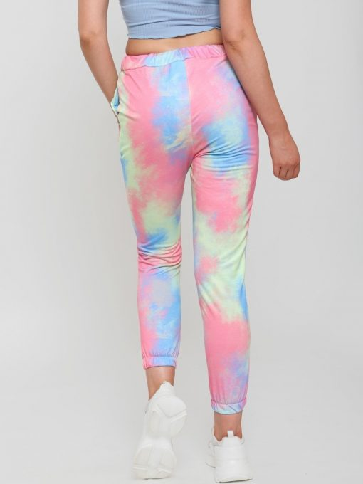 womans tie dye joggers multi colored 3