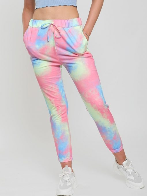 womans tie dye joggers multi colored 4